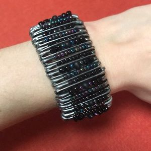 Atlantis Bahamas seedbead safety pin bracelet